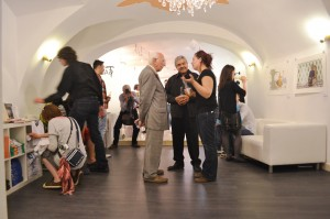 """Opening reception, """"Grafika a la Tex-Mex II"""", T-Gallery, Bratislava, Slovakia. 2013."""